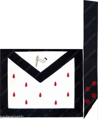 Masonic Scottish Rite 9Th Degree Apron And Sash Set (Ma-238 + Ms-007)