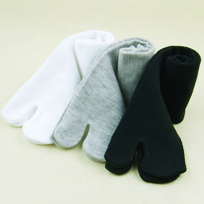 Unisex Japanese Kimono Geta Clog Flip Flop Cotton Tabi Socks Split Toe Sock NEW