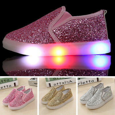 Toddler Baby Kids Boys/Girls LED Shoes Light Up Night Sport Trainers Sneakers