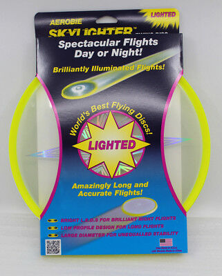 Aerobie Skylighter Frisbee mit LED Model A27 Gelb NEU