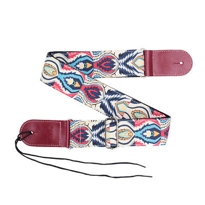 Guitar Bass Neck Belt PU Leather Ends Strap for Electric Acoustic Guitar