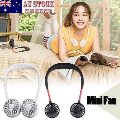 Portable USB Rechargeable Fan Mini Neck Band Hanging Fan Summer Cooling Cooler
