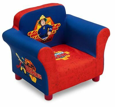 Delta Children Fireman Sam Kids Upholstered Chair, Kids Furniture and Arm Chair