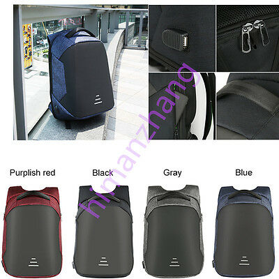19inches Waterproof Anti-theft Backpack Laptop Travel Bag With USB Charging Port