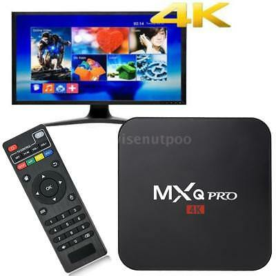 MXQ Pro 4K 3D 64Bit Android 7.1 Quad Core S905W Smart TV Box 1080P WIFI KOD 17.6