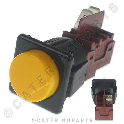 WASH CYCLE START SWITCH AMBER MOMENTARY FITS ASBER GLASSWASHER AND DISHWASHER