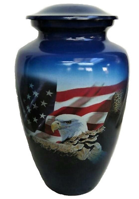 Small/Keepsake 3 Cubic Inch Freedom Aluminum Cremation Urn for Ashes