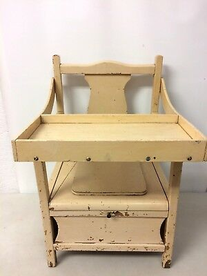 Vintage Antique Wooden Child's Potty Chair Commode With Tray Country Planter