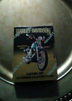 Harley Davidson 1992 Collector Cards Series 2 Factory Set 100 Cards. New sealed!