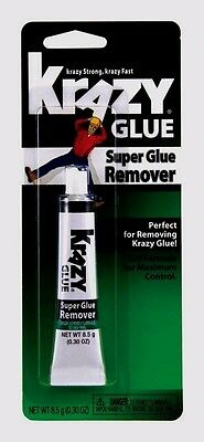Krazy Glue SUPER Glue ADHESIVE REMOVER 8.5 gm Less Mess Gel KG87048R Elmer's NEW