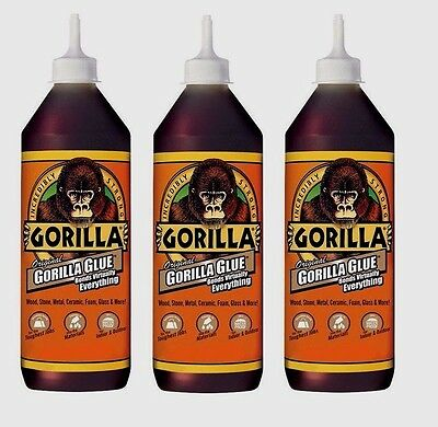 3 New Original Gorilla Glue 8oz High Strength Waterproof Adhesive 5000806