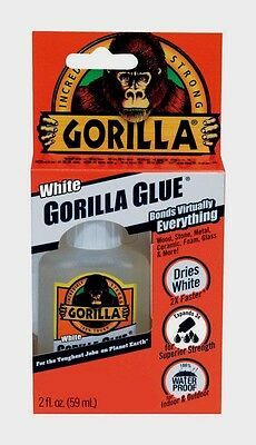 New Original Gorilla Glue White 2oz High Strength Waterproof Adhesive 5201205