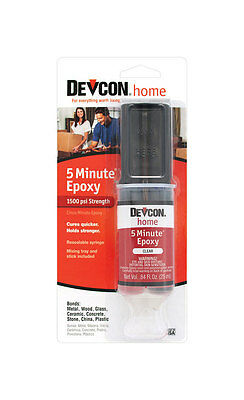 New! Devcon 20845 Home 5 Minute Epoxy .84 oz. High Strength Adhesive
