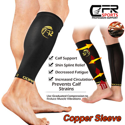 dd98117721 COPPER Compression Calf Sleeve Running Leg Support Brace Sport Shin Splint  Socks