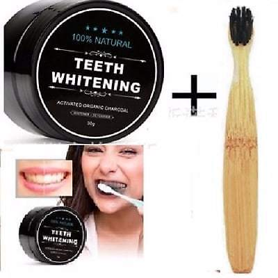 100% Organic Coconut Activated Charcoal Natural Teeth Whitening Powder Usa Ship