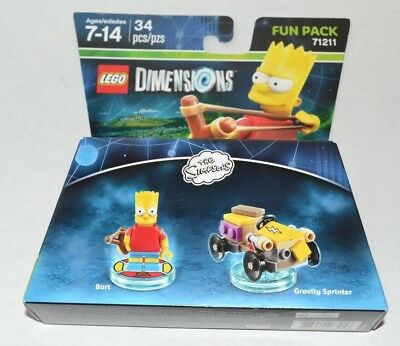 Lego Dimensions Bart Simpson Toy Tag and Bonus Blank For Gravity Sprinter 71211