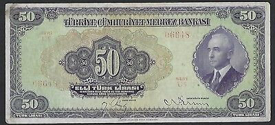 Turkey 1930 (ND 1942) P-142 50 Lira