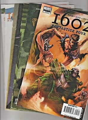 Marvel Comics 1602 by NEIL GAIMAN (Swamp-Thing) 7 issue's
