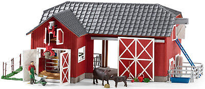 Schleich 72102 Farm World Large Red Barn with Animals & Accessories Toy Figure
