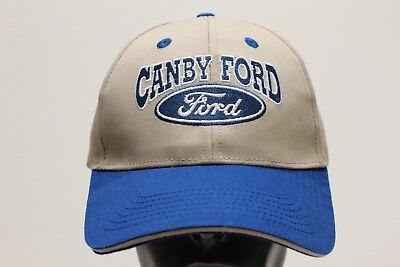 Canby Ford - Beige & Blue - Adjustable Ball Cap Hat