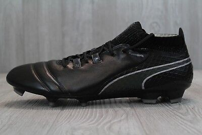 8a926511f26 33 Puma One 17.1 FG Men s Football Shoes Soccer Cleats White Black 104062  11.5