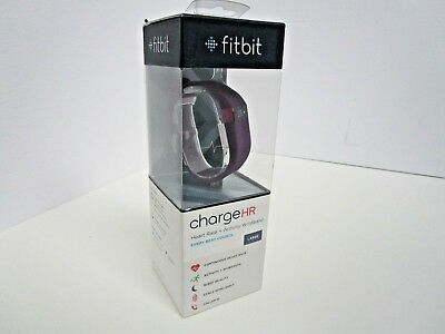 **NEW** Fitbit Charge HR Wireless Activity Tracker + Heart Rate Monitor LRG Plum