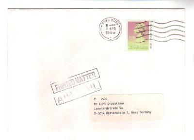 9653- Hong Kong , British Colonies, cover to Germany – Stanley Gibbons 546B