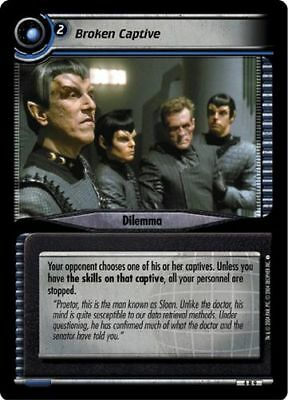 Star Trek CCG 2E Necessary Evil Broken Captive 4R9