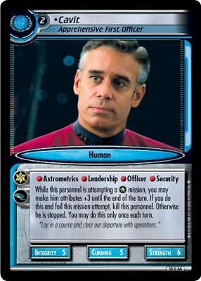 Star Trek CCG 2E Captain's Log Cavit, Apprehensive First Officer 10U64