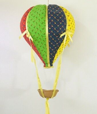 Hot Air Balloon Hanging Nursery Ceiling Wall Decor Vintage Yellow Red Blue Retro