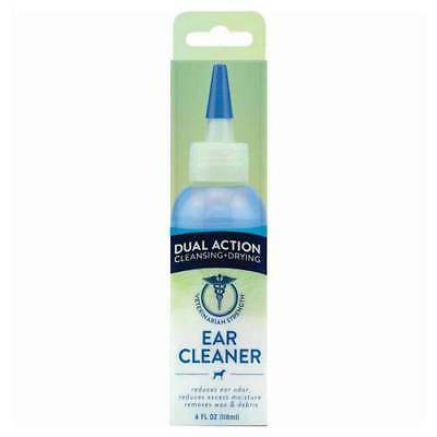 Tropiclean Veterinarian Strength Dual Action Ear Cleaner Solution Cat Dog 118ml
