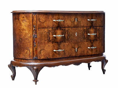 Early 20Th Century Bowfront Burr Walnut Sideboard