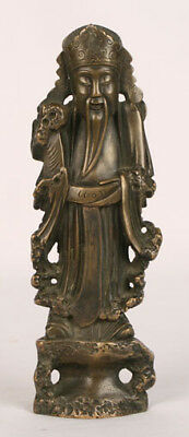 Antique Chinese Ming Qing Dynasty Old Bronze Wiseman Buddha Alter Figure Statue