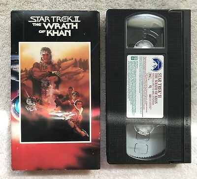 Star Trek II: The Wrath of Khan (VHS, 1982) Rare Collectible Cult OOP