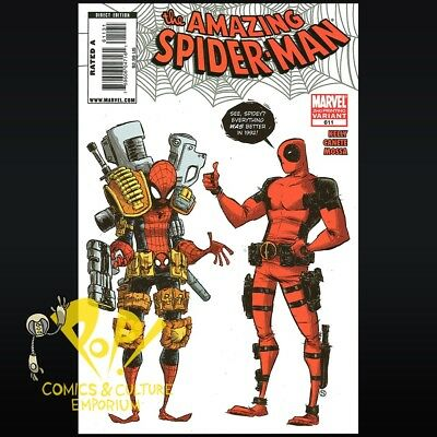 Amazing Spider-Man #611 2nd Printing DEADPOOL VARIANT Skottie Young VF R084