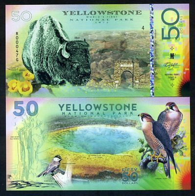 Yellowstone National Park, 2018 , Bison, Falcon - Polymer, Solo 500Pcs Estampado