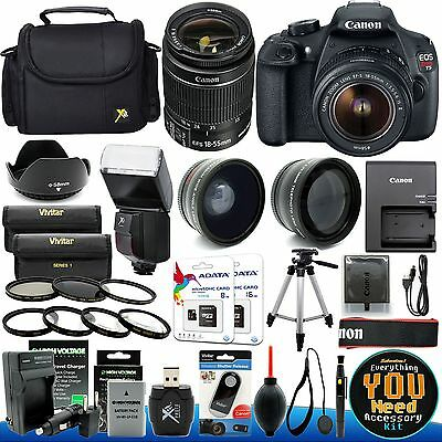 Canon EOS Rebel T5 DSLR Camera with 18-55mm EF-S IS STM Lens + 28 Pcs Accessory
