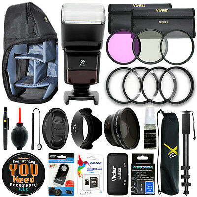 Canon EOS 70D 80D 7D 6D 5D Mark II III Camera Everything You Need Accessory Kit