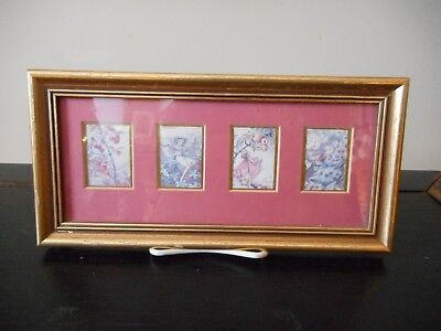 Gorgeous small framed picture of fairies.