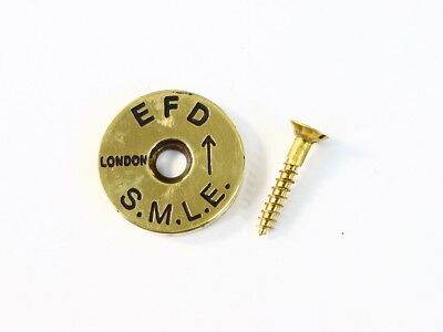 Enfield No.1 MK3 Brass Stock Disc Engraved Marked S.M.L.E. MKIII No.1 .303 Brit