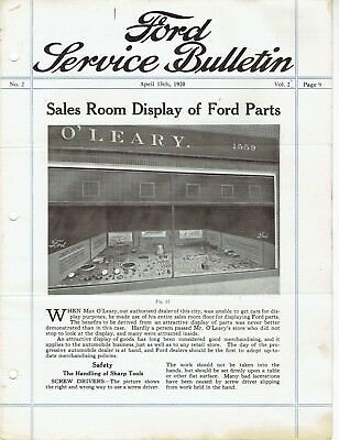 Ford Service Bulletin April 15 1920 Original Model T Car and Fordson Tractor