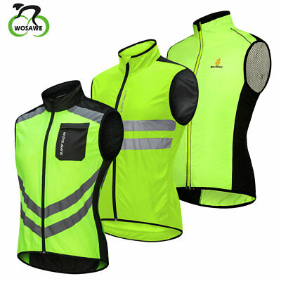 Hi Viz Cycling Vest Motorcycle Waistcoat Reflective Windproof Biker Wind  Jersey 2df778746