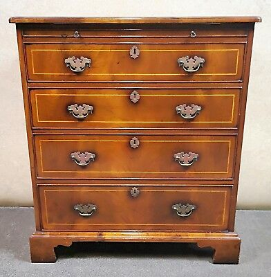 Walnut Tv Cabinet In The Form Of A Chest Of Drawers Bel Reproductions Norfolk