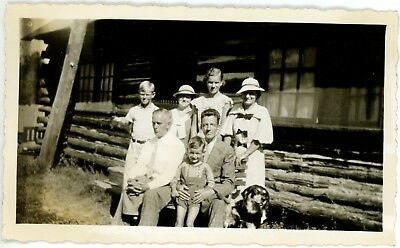 1930s Photo Canada Ontario Lake Rosseau Brouwer Family Clements House Log Cabin