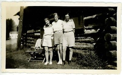 1930s Photo Canada Ontario Lake Rosseau Helen Brouwer Clements House Log Cabin
