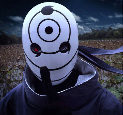 Anime Naruto Mask Uchiha Obito Tobi Cosplay Costume Resin Helmet Halloween Props
