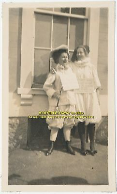 1909 Photo Wheaton College Women Dressed Mother Goose Nursery Rhymes Norton MA