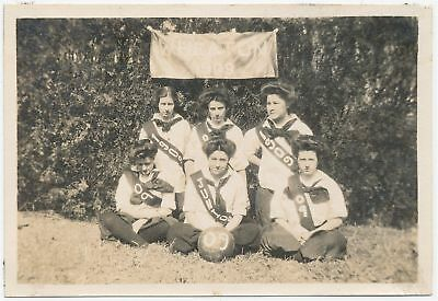 1908 Photo Wheaton College Norton MA Women's Basketball Team Juniors Girls