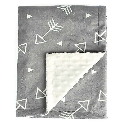 """Boritar Baby Blanket/Crib Quilt Soft Minky Double Layer Dotted Backing 30""""x40"""""""