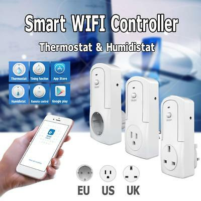 TS-5000 Wireless WIFI Temperature Humidity Remote Control Timing Switch Socket
